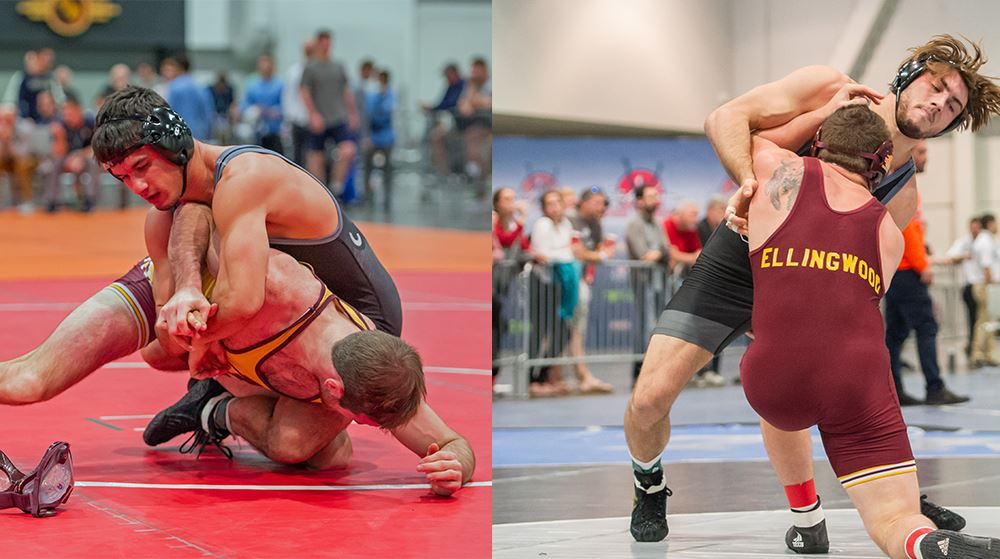 Wrestling Places Two at Cliff Keen Invitational